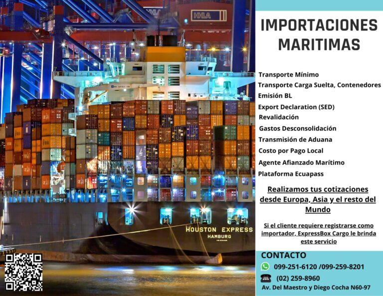 Importaciones marítimas