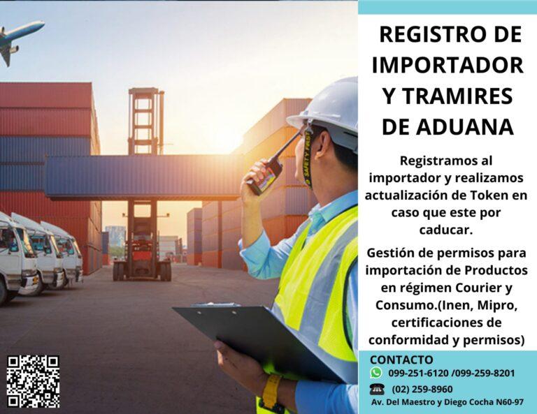 Registro de importador y trámites de aduana